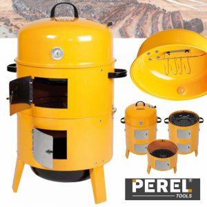 Grelhador Defumador A Carvão C/ Termómetro Perel - (BB100200)