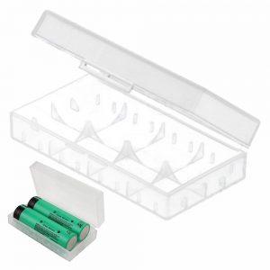 Caixa P/ 2 Baterias Li-Ion 18650 Transparente - (BB18650A/2)