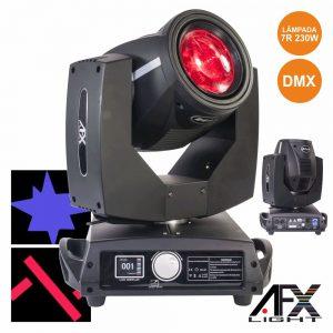 Moving Head Lâmpada 7r 230W 2 Discos DMX Mic AFXLIGHT - (BEAM7R)