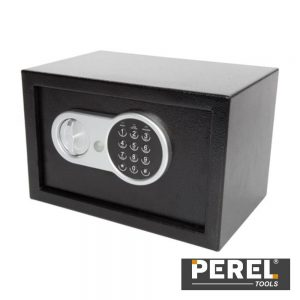 Cofre Eletrónico Aço - 20 x 31 x 20cm PEREL - (BG90017)