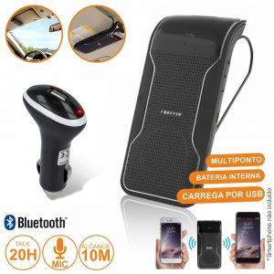 Kit Mãos Livres Bluetooth Multiponto P/ 2 Equipamentos - (BK-100(F))