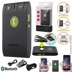 Kit Mãos Livres Bluetooth Multiponto P/ 2 Equipamentos - (BK-300)