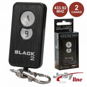 Comando Garagem Universal 2 Canais 433.92mhz - (BLACK2)