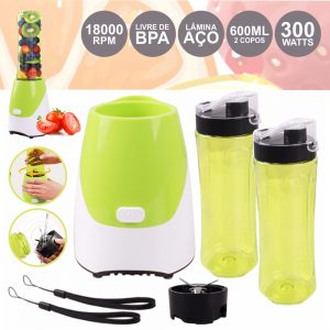 Liquidificador 300W C/ 2 Copos 600ml - (BLENDER300W)