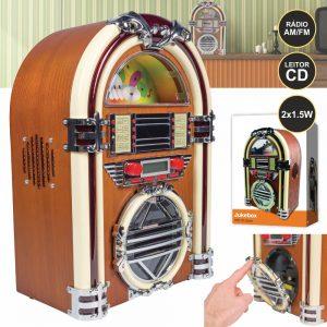Jukebox C/ Leitor Cd/FM LEDS 2x1.5W - (BLX-JB10)