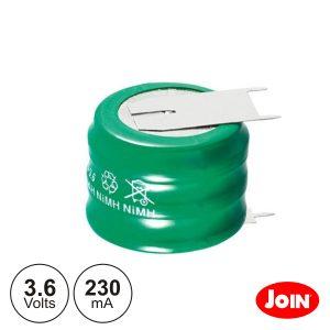 Bateria Ni-Mh 3.6v 230ma C/ Patilhas JOIN - (BM708-33)