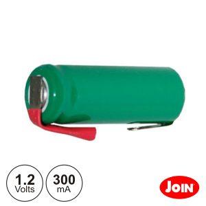 Bateria Ni-Mh 2/3AAA 1.2V 300ma C/ Patilhas JOIN - (BM821-12)