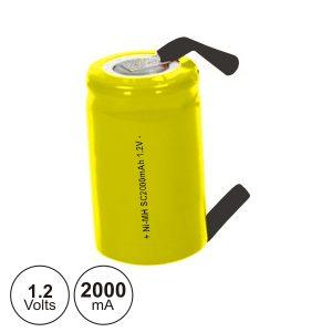 Bateria Ni-Cd Sc 1.2V 2000ma C/ Patilhas - (BN775-12E)