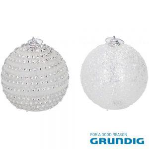 Bola Decorativa C/ 1 LED RGB 8cm Natal GRUNDIG - (08745)