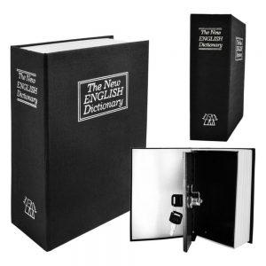 Cofre Metálico em Formato de Livro 18x11.5x5.6cm - (BOOKSAFE-01)