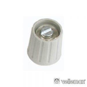 Botão p/ Potenciómetro Cinza 15mm/6mm VELLEMAN - (KN156G)