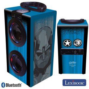 Coluna Bluetooth Portátil 2x3W USB/BT/Aux/Bat LED Avengers - (BT600AV)