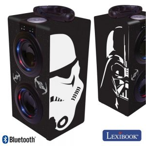 Coluna Bluetooth Portátil 2x3W USB/BT/Aux/Bat LED Star Wars - (BT600SW)