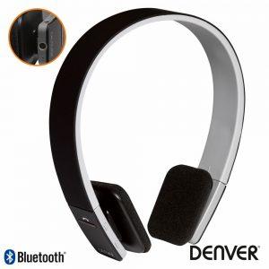 Auscultadores Bluetooth S/ Fios Preto DENVER - (BTH-204BLACK)