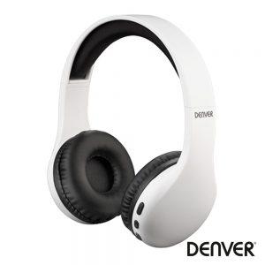 Auscultadores Bluetooth S/ Fios Aux Branco Mic DENVER - (BTH-240WHITE)