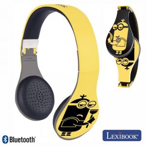 Auscultadores Bluetooth S/ Fios Bat Mic Minions Lexibook - (BTHP410DES)