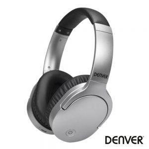 Auscultadores Bluetooth S/ Fios Prateados Denver - (BTN-207SILVER)