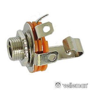 Ficha Jack 2.5mm Fêmea P/Chassis Mn - (CA013)