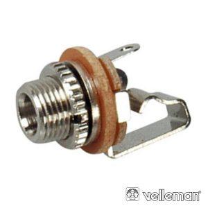 Ficha Jack 3.5mm Fêmea P/Chassis Mn - (CA015)