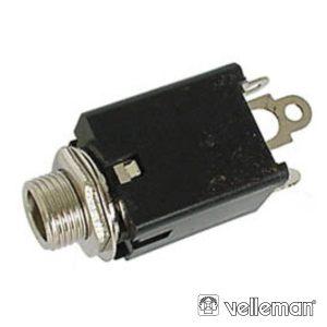 Ficha Jack 6.35mm Fêmea St P/ Chassis C/ Interruptor - (CA044)