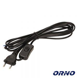 Cabo Alimentação C/ Interruptor 3m Preto ORNO - (OR-AE-1394/B)