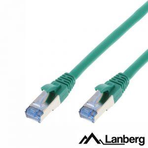 Cabo S/FTP LSZH CAT6A 0.5m Verde LANBERG - (PCF6A-10CC-0050-G)