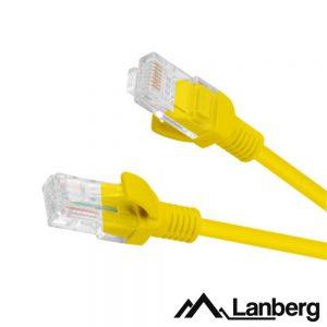 Cabo UTP CAT5E 1m Amarelo LANBERG - (PCU5-10CC-0100-Y)