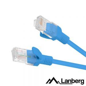 Cabo UTP CAT5E 25cm Azul LANBERG - (PCU5-10CC-0025-B)