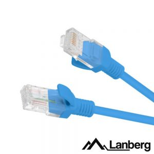 Cabo UTP CAT5E 2m Azul LANBERG - (PCU5-10CC-0200-B)