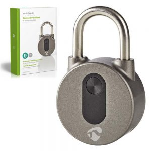 Cadeado Bluetooth S/ Chave NEDIS - (LOCKBTP10GY)