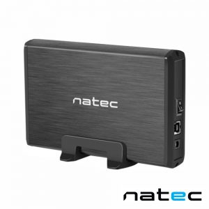 "Caixa Alumínio USB 3.0 P/ Discos HDD 3.5"" SATA III NATEC - (NKZ-0448)"