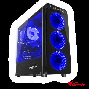 Caixa ATX Midi-Tower IRID 300 Azul GENESIS - (NPC-1132)