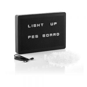 Caixa De Luz LED Perfurada A4 200 Caractéres - (INVG017)