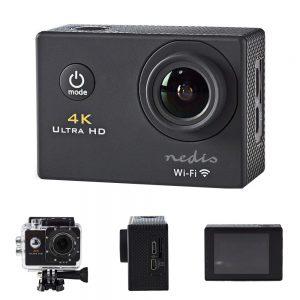 Câmara De Ação Ultra HD 4K Wi-Fi À Prova De Água NEDIS - (ACAM40BK)