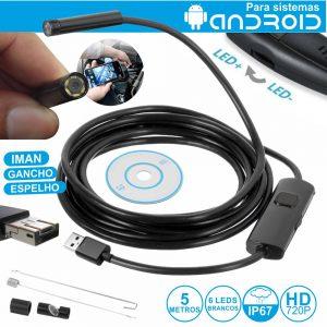 Câmara Endoscópica HD USB-C/micro-USB/USB Android OTG IP67 - (ENDOSCAM05)