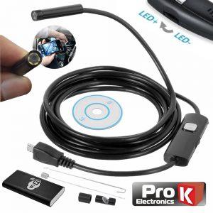 Câmara Endoscópica HD C/ Acessórios Wifi E Bateria IP67 PROK - (ENDOSCAM03)