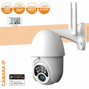 Câmara Vigilância IP 1080p Wifi 2Mp - (CVCIP088LA)