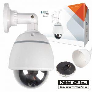 Câmara Vigilância Dome Falsa C/ IP44 Konig - (DUMMY210W)