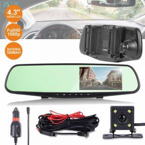 Câmara Vigilância FHD 1080p Espelho Retrovisor Automóvel 4.3 - (CVCF600)