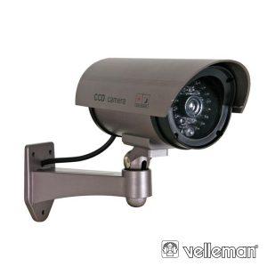 Câmara Vigilância Falsa C/ LED Ir E LED Vermelho - (CAMD7N)