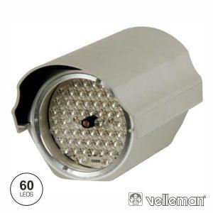 Projetor Ir 60 LEDS 12V Alcance 45m Ip66 VELLEMAN - (CAMIRP3)