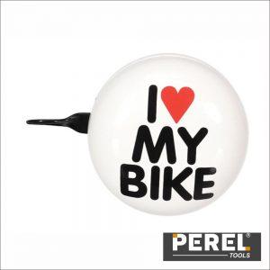 Campaínha p/ Bicicleta - I Love My Bike - Ø 8 Cm PEREL - (BR3)