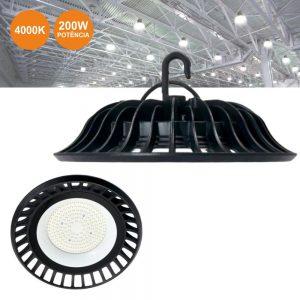 Campânula LED 200W 4000K IP65 18000LM - (CLIUFO200NW(E))