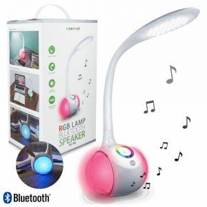 Candeeiro C/ Coluna Bluetooth 3W USB LED RGB Branco. - (BS-760WH)