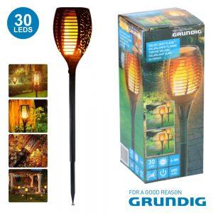 Candeeiro Exterior Solar 30 LEDS Jardim Bat 59cm Grundig - (14550)