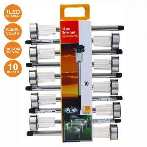 Candeeiro Exterior Solar 1 LED Jardim 10X - (GRD131)