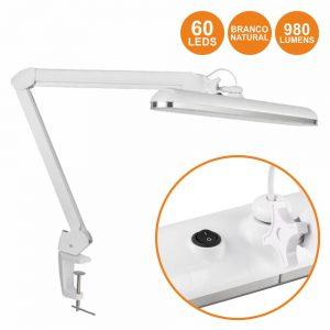 Candeeiro 60 LEDS 12W 4000k P/ Bancada - (VTLLAMP0464)