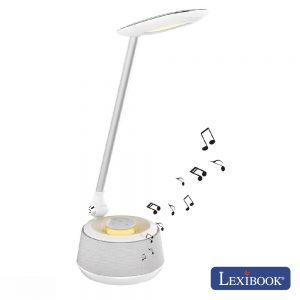 Candeeiro C/ Coluna Bluetooth 10W USB LED Branco Lexibook - (BTL030)