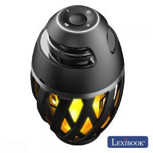 Candeeiro C/ Coluna Bluetooth 10W USB LED Chama Exterior - (BTL075)