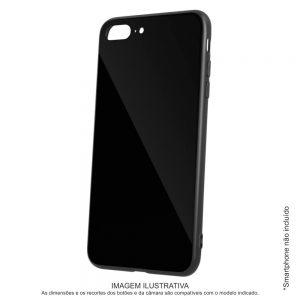 Capa TPU Anti-choque Preto C/ Vidro P/ iPhone X/XS - (CASEIPHONEX/XS-BK5)